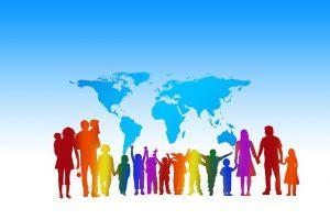 crowd, world, together